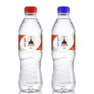 Agua mineral con gas o sin gas para acompañar tu pedido en Potemkin