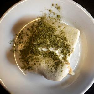 Tiramisú con Té Matcha en Potemkin Sushi Bar